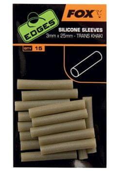 Fox Převleky Edges Silicone Sleeves 3x25 mm Trans Khaki 15 ks