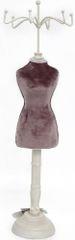 Sifcon Stojánek na šperky - samet - růžový