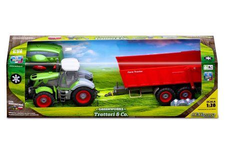 Traktor s prikolico na daljinsko vodenje, 50 cm