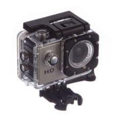 Object športna vodoodporna kamera HD 1080p, siva