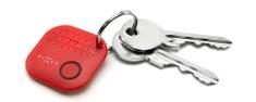Fixed Smile - lokalizační čip, červený
