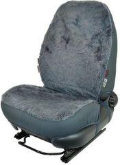 CarPoint Poťah sedadla ovčia vlna šedá 1ks