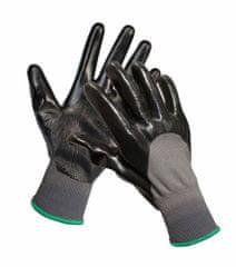 Červa Nitrilové pracovné rukavice Fieldfare čierna 9