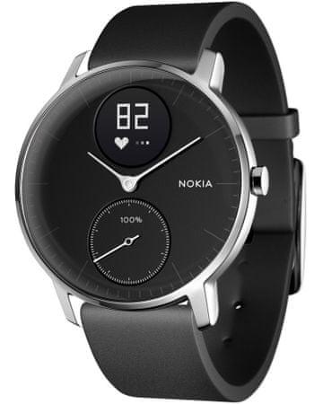 Nokia pametna ura Steel HR, črna, 36 mm