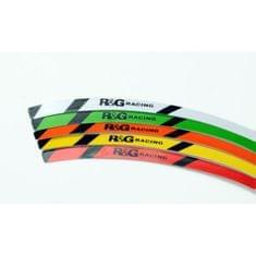 R&G racing prúžky na ráfiky RG-Racing, zelená