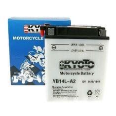 Batérie KYOTO 12V 14Ah YB14L-A2 (kyslé. Náplň súčasťou balenia)
