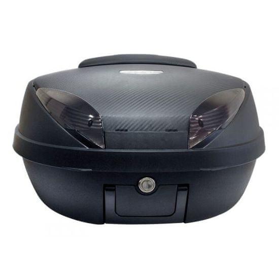 TOP Case S-Line 52l, matná čierna/karbón