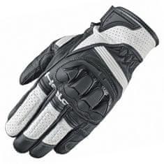 Held športové rukavice SPOT na motorku, čierna/biela, hovädzie/klokanej kože