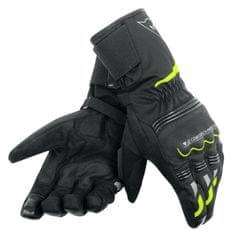 Dainese rukavice na motorku TEMPEST D-DRY UNISEX čierna/fluo-žltá, textilné (pár)