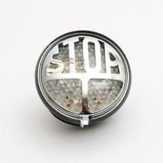 Highway-Hawk koncové moto svetlo  STOP s LED, osvetlenie ŠPZ, E-mark, čierna (1ks)
