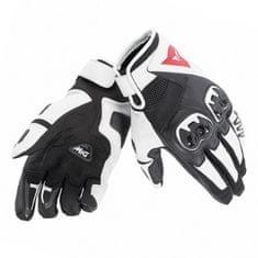 Dainese kožené moto rukavice MIG C2 UNISEX černá/bílá/černá