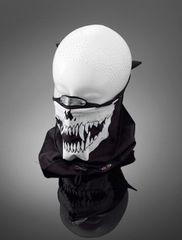 Highway-Hawk tvárová maska s nákrčníkom SKULL, hliníková spona na nos, bavlna