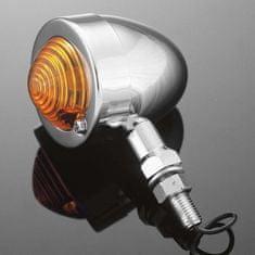 Highway-Hawk svetlo na motorku BULLET s dlhou nožičkou, chróm (1ks)