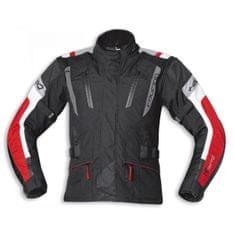 Held pánska moto bunda 4-TOURING Reissa čierna/červená