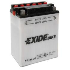 Exide batéria EB14L-A2, 12V 14Ah, za sucha nabitá s antisulfační úpravou. Náplň súčasťou balenia.