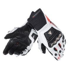 Dainese pánske rukavice na motorku RACE PRO IN čierna/fluo červená/biela