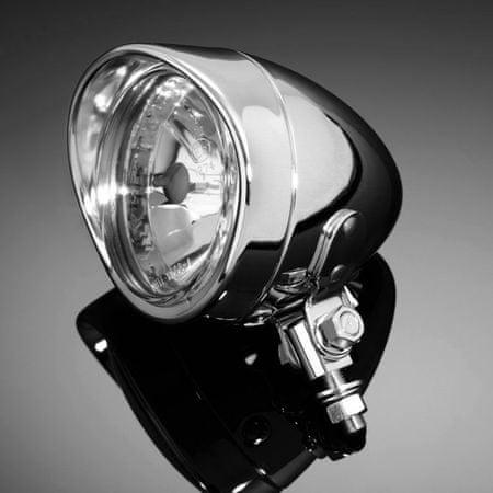 Highway-Hawk prídavné moto svetlo  TECH GLIDE, d = 90mm, E-mark, chróm (1ks)