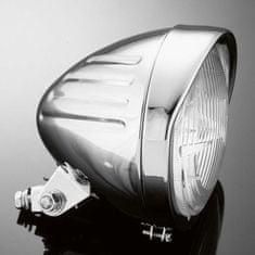 Highway-Hawk hlavné motocyklové svetlo  TECH GLIDE, d = 140mm, E-mark, chróm (1ks)