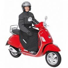 Held nepremokavá (zateplená) pláštenka/deka na scooter, čierna, textil