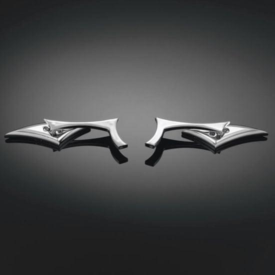 Highway-Hawk motocyklová zrkadlá Razorback, Ľavá i Pravá strana, chróm (2ks)