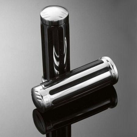 Highway-Hawk gripy 22mm  LEGEND, chrom/černá (2ks)