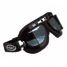 Held motocyklové okuliare CLASSIC, čierny rám, lomené, dvojité sklo