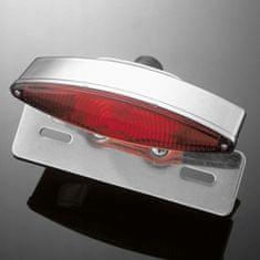 Highway-Hawk koncové svetlo na motorku TECH GLIDE s držiakom ŠPZ, E-mark, chróm (1ks)