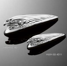 Highway-Hawk soška EAGLEHEAD na blatník (orol), 12cm, chróm
