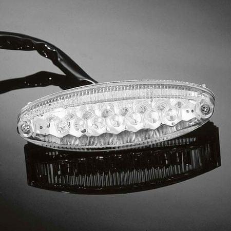 Highway-Hawk koncové moto svetlo LED OVAL, osvetlenie ŠPZ, E-mark (1ks)