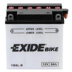Exide batéria EB9L-B, 12V 9Ah, za sucha nabitá s antisulfační úpravou. Náplň súčasťou balenia.