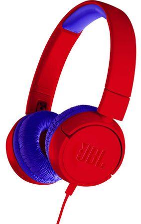 JBL JR300 sluchátka, červená