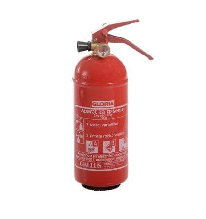 Gallus gasilni aparat Gloria PD s prahom ABC, 2 kg