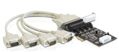 Delock kartica PCI Express Serijska 4xRS232, Low-Profile