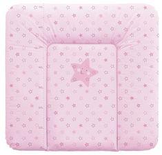 Haberkorn previjalna podloga Zvezda, 72 x 75 cm, roza