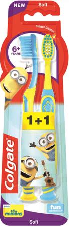 Colgate szczoteczka do zębów dla dzieci Smiles 6+ Minions 1+1