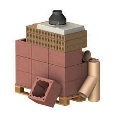 Almeva Komplet komín CLASSIC, DN 160, 45°, základní set