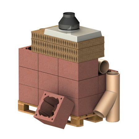 Almeva Komplet komín CLASSIC, DN 200, 45°, základní set