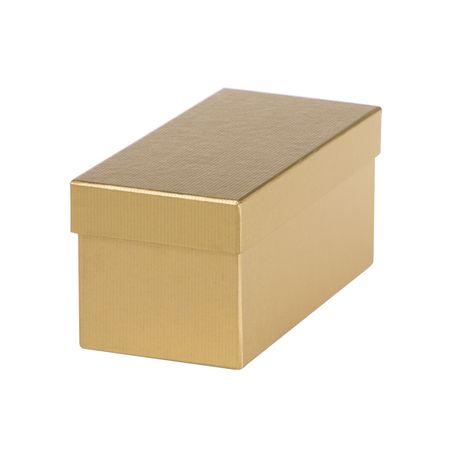 Giftisimo Dárková krabice Jana 1, zlatý natur - 22x10x10 cm