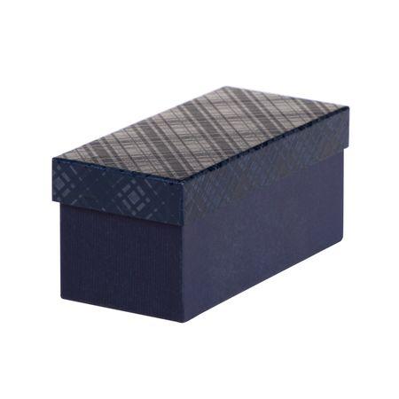 Giftisimo Dárková krabice Jana 1, tmavě modrá kára - 22x10x10 cm