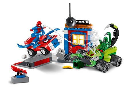 LEGO Juniors 10754 Spider-Man proti Scorpionu - ulična bitka