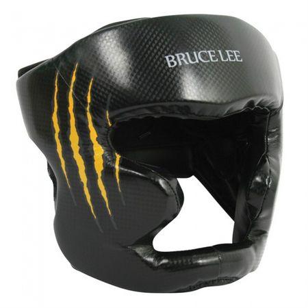 Bruce Lee ščitnik za glavo, črno-rumen, S
