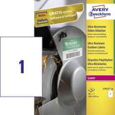 Avery Zweckform odporne etikete L7917-40, 210 x 297, bele