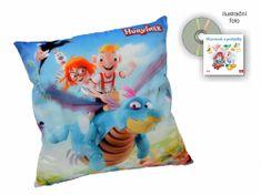 MÚ BRNO poduszka Hurvinek 30x30cm + płyta CD, smok