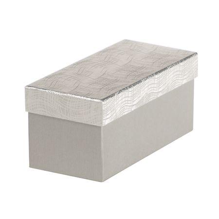 Giftisimo Dárková krabice Jana 1, stříbrná vlnka - 22x10x10 cm