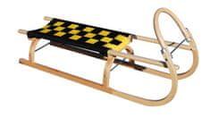 Sulov Dřevěné saně 67, 110 cm, černo-žluté