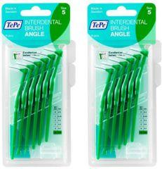 Tepe 2 x 0,8 medzizubné kefky zelené Angle 6 ks