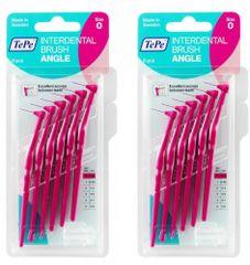 Tepe 2 x 0,4 medzizubné kefky ružové Angle 6ks