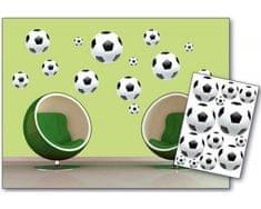 Dimex Dekoračné nálepky na stenu Futbalové lopty - 50 x 70 cm