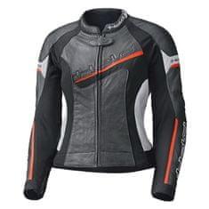 Held dámska kožená bunda na motorku DEBBIE 2 čierna/biela/červená