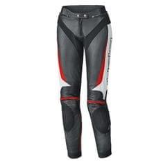 Held dámské kožené kalhoty na motorku LANE 2 černá/bílá/červená